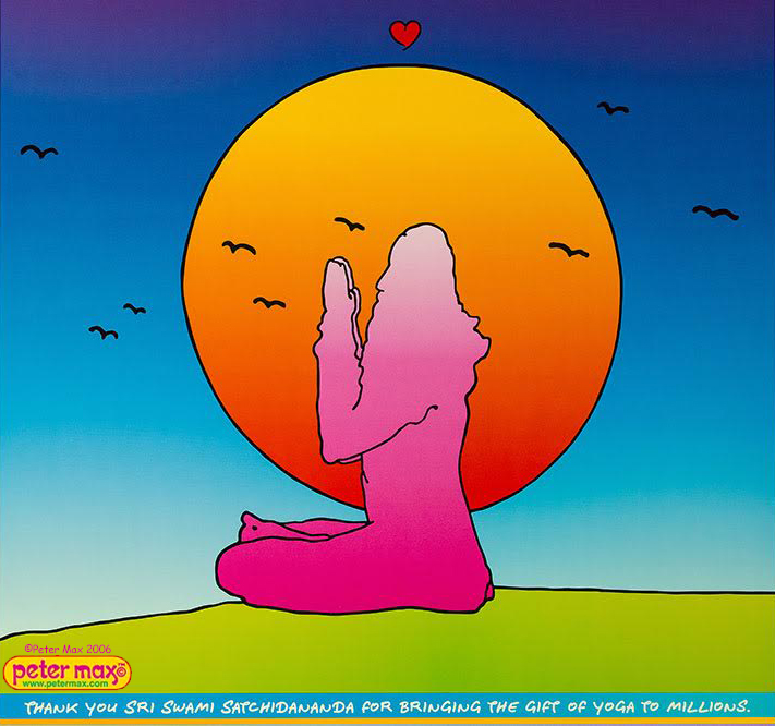 Swami Satchidananda - Peter Max Art