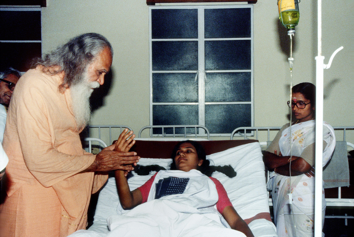 Swami Satchidananda with Patient
